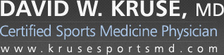 David W. Kruse, MD - Certified Sports Medicine Physician